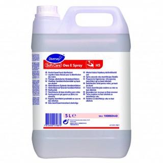 Soft Care Des E Spray H5 Αντισηπτικό για τα χέρια λεπτόρευστo με αιθανόλη (<71%) 5L