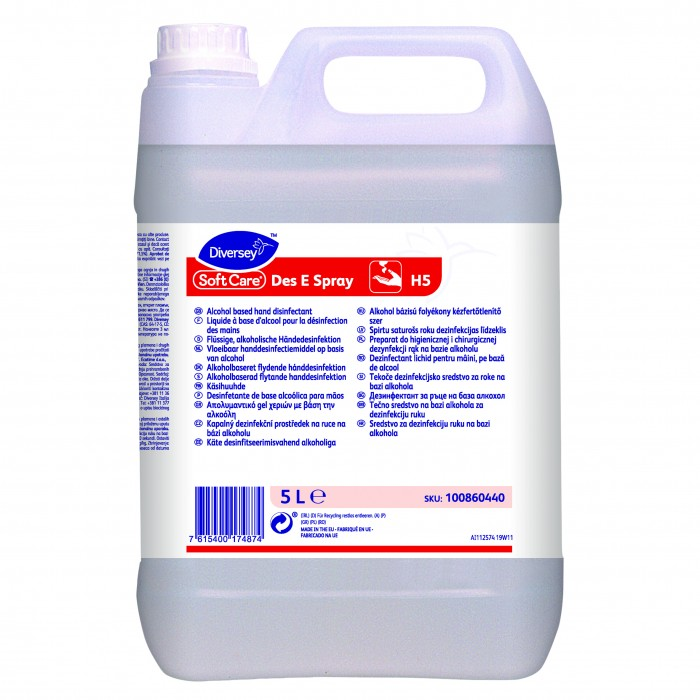 Soft Care Des E Spray H5 Bacteriostatic gel for hands based on alcohol 5L