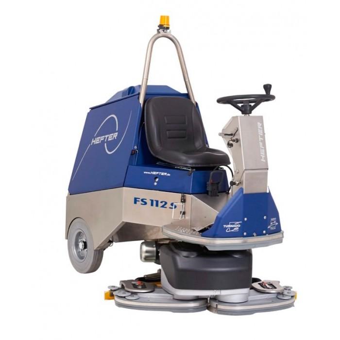 HEFTER FS 112, Μηχάνημα πλύσης-στέγνωσης με όπισθεν κίνηση & ρυθμιζόμενο πλάτος καθαρισμού μπροστά στα εμπόδια.
