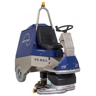 HEFTER FS 82, Μηχάνημα πλύσης-στέγνωσης με όπισθεν κίνηση & ρυθμιζόμενο πλάτος καθαρισμού μπροστά στα εμπόδια.