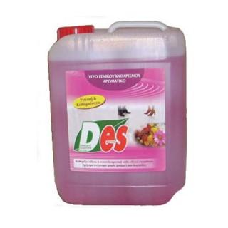 DES Υγρό γενικού καθαρισμού με αλκοόλη βιοδιασπώμενο, συσκευασίες 5LT,10Lt,20Lt
