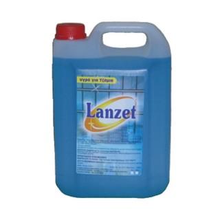 LANZET Οικονομικό υγρό καθαρισμού τζαμιών και επιφανειών, συσκευασίες 4Lt ,13Lt