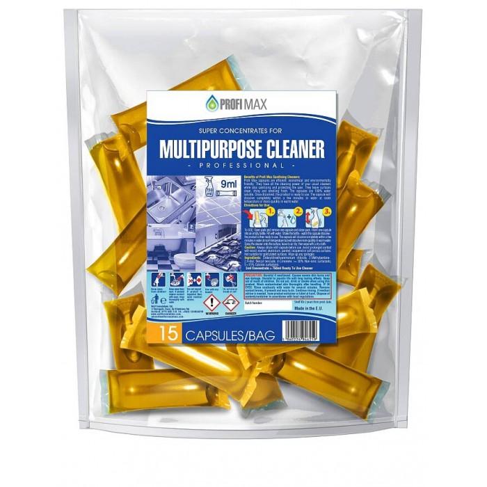 Multipurpose Cleaner, καθαριστικό γενικής χρήσης σε μορφή κάψουλας, 15τμχ.