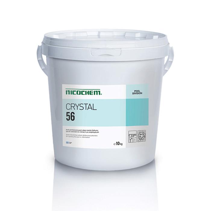 NICOCHEM CRYSTAL 56 Νάτριο για την εκκίνηση της πισίνας ή για υπερχλωρίωση σε περίπτωση δυσμενών συνθηκών, 10kg, 50kg