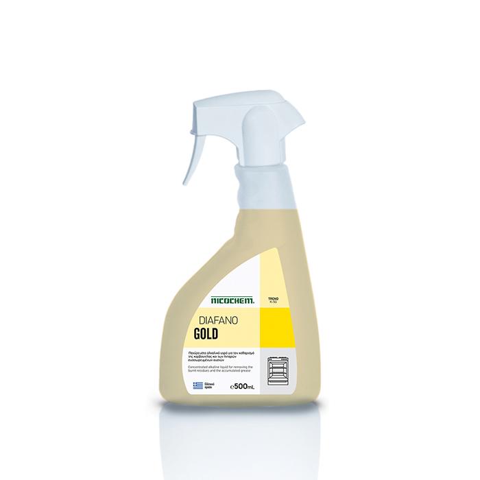 NICOCHEM DIAFANO GOLD SPRAY Ισχυρό καθαριστικό για καμμένα λάδια & λίπη (καρβουνίλα), 500mL