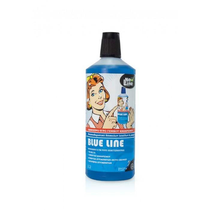 Blue Line, πανίσχυρο υγρό γενικού καθαρισμού 900ml, 3Lt