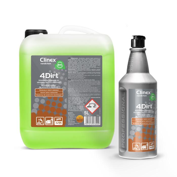Clinex 4Dirt, γενικής χρήσης βιοαποκοδομήσιμο προϊόν για την απομάκρυνση ρύπων με βάση το λίπος