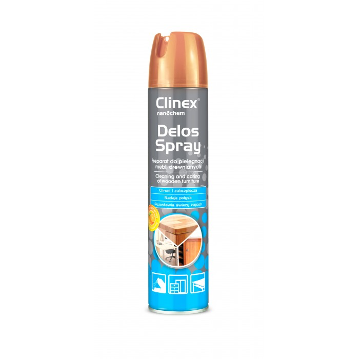 Clinex Delos Spray Preparation for cleaning and care of wooden furniture and wood-like materials 300ml