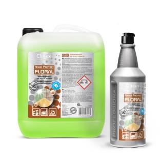Clinex Nano Protect Floral μη αλλεργιογόνο καθαριστικό με νανοσωματίδια για δάπεδα, 1L , 5L