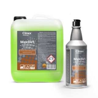 Clinex Max Dirt καθαριστικό-απολιπαντικό, κατάλληλο και για επιφάνειες τροφίμων 1L, 5L