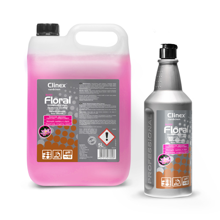 Clinex Nanochem Floral Blush, καθαριστικό δαπέδων γενικής χρήσης, 1L, 5L