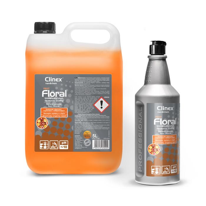 Clinex Floral Fruit, καθαριστικό δαπέδων γενικής χρήσης, 1L