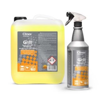 Clinex Grill, Επαναστατικό καθαριστικό για καμμένα λίπη, καπνιά, σε σχάρες, BBQ, φούρνους, 1L, 5L