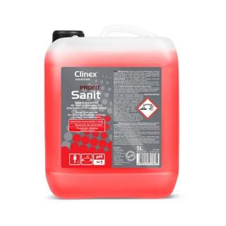 Clinex PROFIT Sanit Υπερσυμπυκνωμένο καθαριστικό για τον καθημερινό καθαρισμό των χώρων υγιεινής 5L