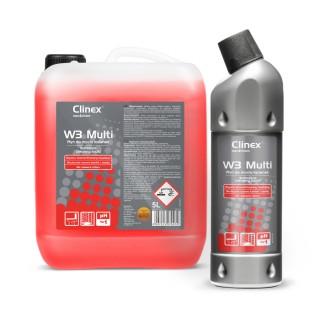 Clinex W3 Multi, συμπυκνωμένο καθαριστικό για τις τουαλέτες και τα μπάνια, 1L , 5L